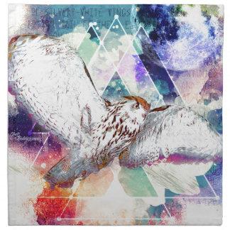 Phate-Vu Verian-The Great White Owl-Print Napkin