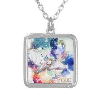 Phate-Vu Verian-The Great White Owl Silver Plated Necklace