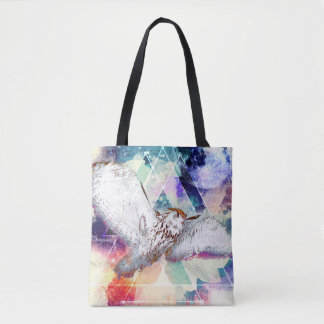 Phate-Vu Verian-The Great White Owl Tote Bag