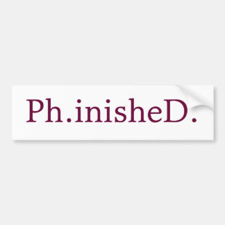 PhD Bumper Sticker
