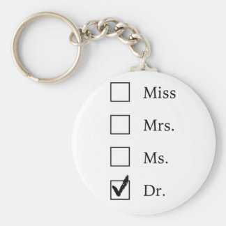 PhD gifts for women Basic Round Button Keychain