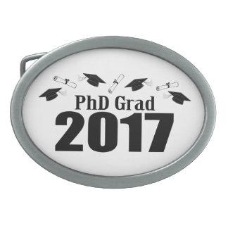 PhD Grad 2017 Caps And Diplomas (Black) Belt Buckles