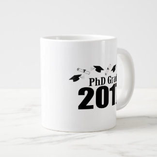 PhD Grad 2017 Caps And Diplomas (Black) Large Coffee Mug