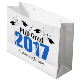 PhD Grad 2017 Graduation Gift Bag (Blue)