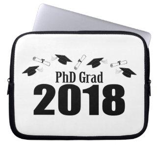 PhD Grad 2018 Caps And Diplomas (Black) Laptop Sleeve
