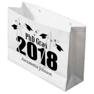 PhD Grad 2018 Graduation Gift Bag (Black)