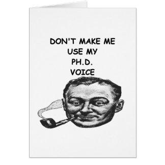 phd greeting card