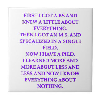 phd joke tile