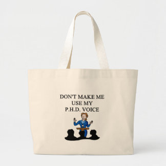 PHD voice Large Tote Bag