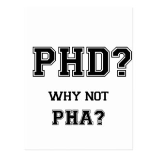 PhD? Why not PhA? High expectations Asian Father Postcard