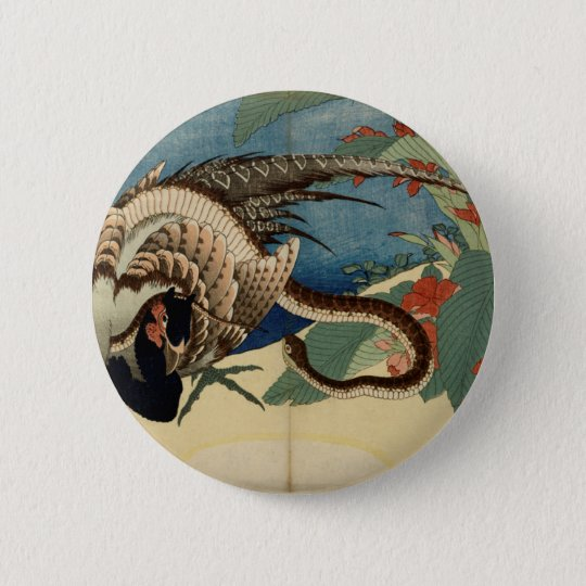 Pheasant and the Snake 2 Inch Round Button