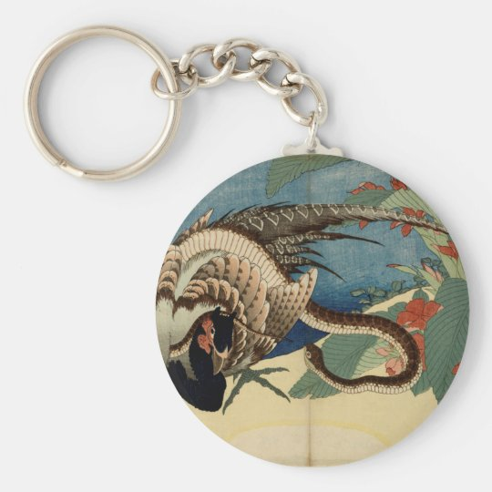 Pheasant and the Snake Basic Round Button Keychain