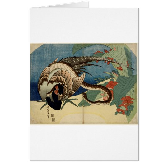 Pheasant and the Snake Card