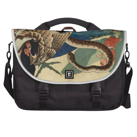 Pheasant and the Snake Laptop Bags