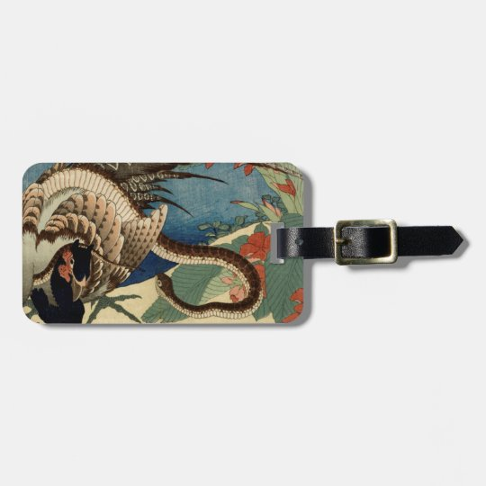 Pheasant and the Snake Luggage Tag