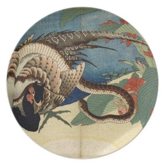 Pheasant and the Snake Party Plate