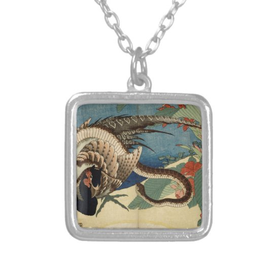 Pheasant and the Snake Silver Plated Necklace