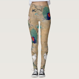 Pheasant Egret Bird Floral All Over Print Leggings