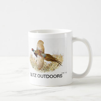 """Pheasant in Flight"" Coffee Mug by Blitz Outdoors"