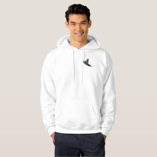 Pheasant in Flight Mens Hooded Sweatshirt