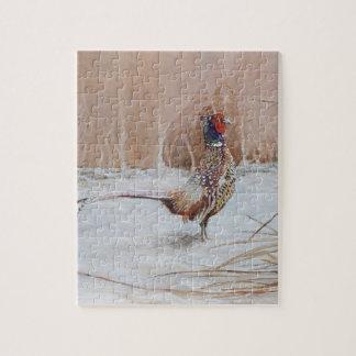 Pheasant in the snow puzzle