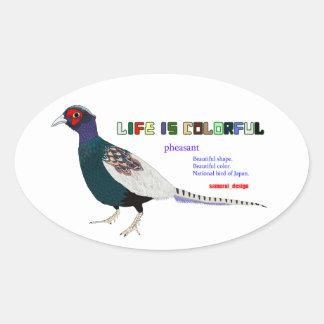 Pheasant Oval Sticker