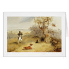 Pheasant Shooting (oil on canvas) 2 Card