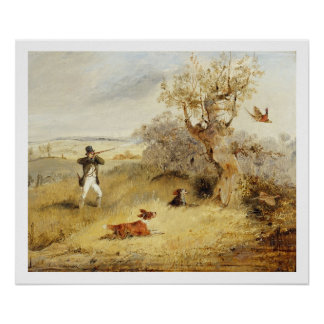 Pheasant Shooting (oil on canvas) 3 Print