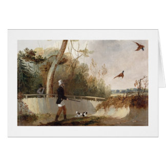 Pheasant Shooting (oil on canvas) Card