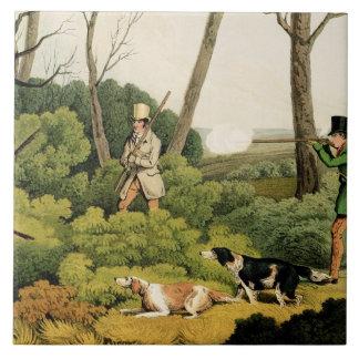 'Pheasant Shooting', pub. by Thomas McLean, 1820 ( Tile