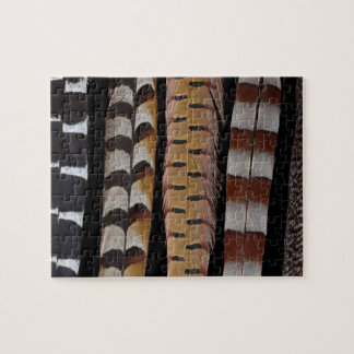 Pheasant tail feathers jigsaw puzzle