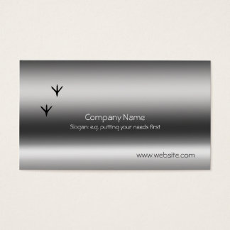 Pheasant Tracks Metallic-look template Business Card