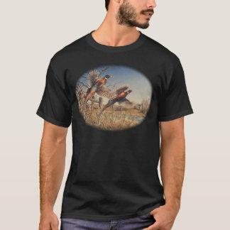 Pheasants Aloft - Great Hunting on the farm T-Shirt