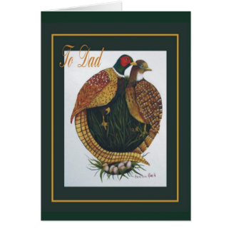 Pheasants Card