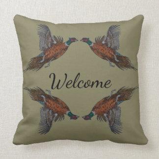`Pheasants in Flight' Throw Pillow