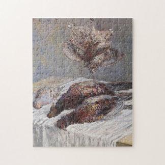 Pheasants Woodcocks & Partridges Monet Fine Art Jigsaw Puzzle