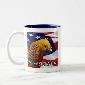 Pheasidential Pheasant Two-Tone Coffee Mug