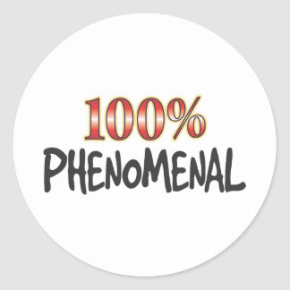 Phenomenal 100 Percent Classic Round Sticker
