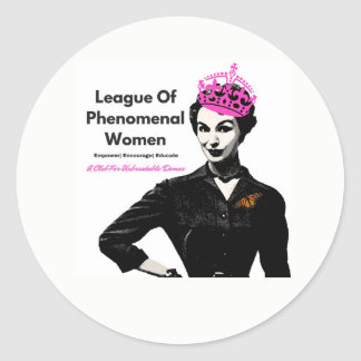 Phenomenal Woman Classic Round Sticker