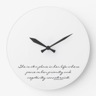 Phenomenal Woman Large Clock