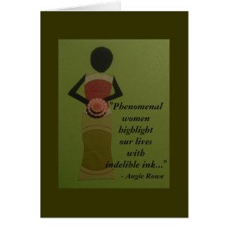 Phenomenal Women Quote Greeting Card
