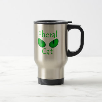 Pheral Cat (Green Eyes) Official Album Art 15 Oz Stainless Steel Travel Mug