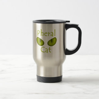 Pheral Cat (Olive Eyes) 15 Oz Stainless Steel Travel Mug
