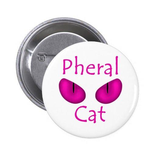 Pheral Cat (Pink Eyes) Pins