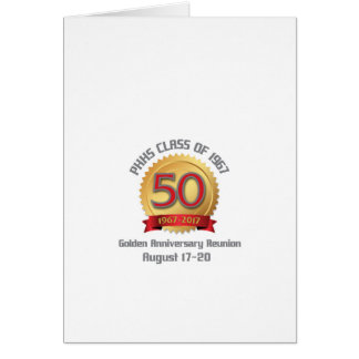 PHHS Class of 1967 50-Year Reunion Card