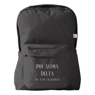 Phi Alpha Delta backpack