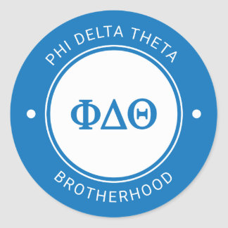 Phi Delta Theta | Badge Classic Round Sticker
