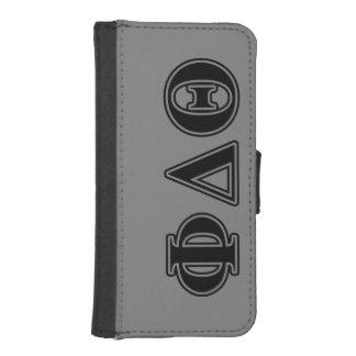 Phi Delta Theta Black Letters iPhone SE/5/5s Wallet Case