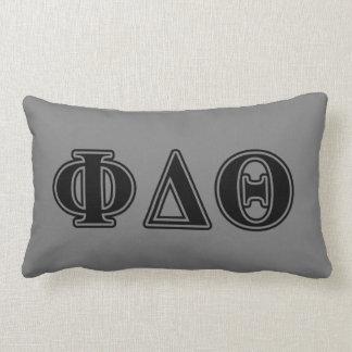 Phi Delta Theta Black Letters Lumbar Pillow