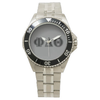 Phi Delta Theta Black Letters Watch